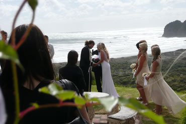 West Auckland Wedding Venue at Bethells Beach